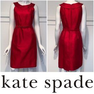 Kate Spade Belted Sleeveless Silk Blend Dress, 2